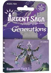 Argent Saga 25 Card Expansion Pack 1 Generations