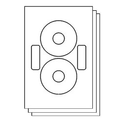 Officesmartlabels Neato CLP-192217 CLP-192235 Compatible Disc Cd DVD Labels With Case Labels For Laser & Inkjet Printers 2 Per Sheet White Matte 300 Labels 150 Sheets
