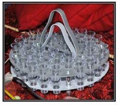 48 Glass - Stack-able Aluminium Communion Tray