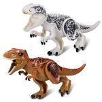 Greshare 2 Sets Large Size Lifelike Multicoloured 3D Jigsaw Puzzles T-rex Dinosaur Building Blocks For Children Larger Size Whit