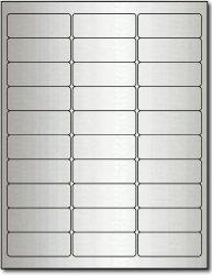 "Desktop Publishing Supplies, Inc. 2 5 8"" X 1"" Silver Foil Address Labels For Laser Printers - 300 Labels"