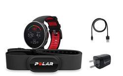 Polar Vantage V Pro Multisport Gps Watch WEARABLE4U Wall Charging Adapter Bundle Titan W H10 Hrm Strap