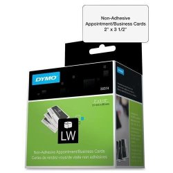 "Dymo Lw 30374 Non-adhesive Appointment Business Cards 2"" X 3 1 2"