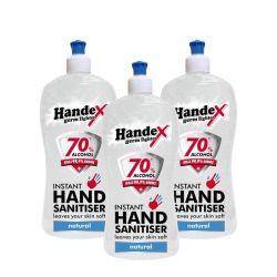 Handex Hand Sanitiser 70% Alcohol - 500ML 3 Pack