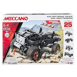 Erector By Meccano 4X4 Off-road Truck 25 Model Building Set 443 Pieces For Ages 9 And Up Stem Contruction Education Toy
