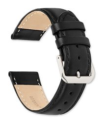 Debeer Coach Leather Watch Band - Black 12MM