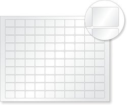 "MyAssetTag 8.5"" X 11"" Sheets Of Lusterguard Silver Polyester Labels 0.75"" X 1"" 500 Labels pack"
