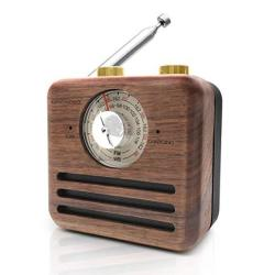 Retro Radio Bluetooth Speaker-natural Walnut Wood Fm wb Radio With Wireless Bluetooth Speaker Rechargeable Battery Loud Volume F