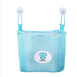 Voberry Hot Baby Bathroom Mesh Bag Child Bath Toy Storage Bag Net Suction Cup Baskets