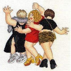 Bothy Threads Beryl Cook Girls Night Out Cross Stitch Kit