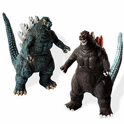 Hualedi 2 Pack Godzilla Toys 10-7-3 Inch Godzilla Action Figures With Cutlery Grade PC Material Realistic Model Suit For Age 3+