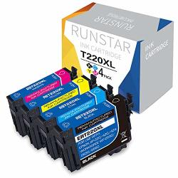 Run Star Remanufactured Ink Cartridge Replacement For Epson 220XL 220 XL T220XL Used In Epson WF-2760 WF-2750 WF-2630 WF-2660 WF-2650 XP-320 XP-420 XP-424 1