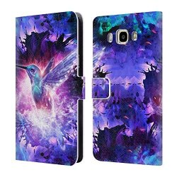 Head Case Designs Official Cameron Gray Hummingbird Love Creation Leather Book Wallet Case Cover For Samsung Galaxy J7 2016