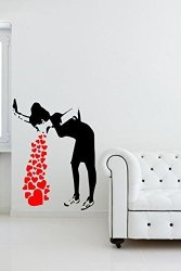 "Broomsticker Banksy Love Sick - Iconic Graffiti Wall Sticker Small: 30CM X 40CM 12"" X 16"""