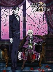 Black Butler Premium Wall Scroll 2 - Key Art Anime Art Licensed GE81192