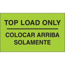 "Box Partners 3"" X 5"" ""colocar Arriba Solamente"" DL3070 Category: Inventory Labels"