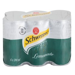 Schweppes - Lemonade Cans 6 X 200ML