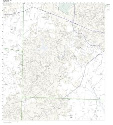 Zip Code Wall Map Of High Point Nc Zip Code Map Laminated