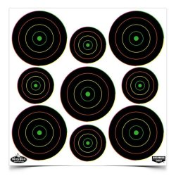 """Birchwood Casey Gun Care Birchwood Casey Dirty Bird 2"""" And 3"""" Multi-color Bull's-eye Targets"""