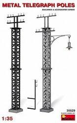 Miniart 1:35 Metal Telegraph Poles Model Kit
