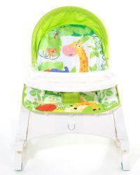 Nipper Green-jungle Baby Rocking Bassinet