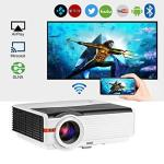 2019 Bluetooth Projector Wifi Wireless Android 5000 Lumens Lcd LED Smart Video Projector Home Theater Support HD 1080P Airplay H