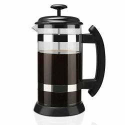 Elabo French Press Coffee Maker - Coffee Press And Tea Maker With Borosilicate Glass Heat Resistant And Dual Filter 34 Ounce 1 Liter 8 Cup