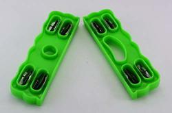 Beautiful 8.5 Inch Plastic Khartal Pair Artistic Shape 4 Chrome Zingles Percussion