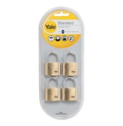 Yale Brass Padlock Quad 40MM