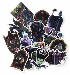 Evil Female Villains Cartoon Characters Decal Stickers Assorted Lot Of 17 Pieces