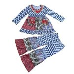 78a125d2df Yawoo Haan Girls Boutique Outfits Party Ruffle Dress Pants Clothing Set E 2T