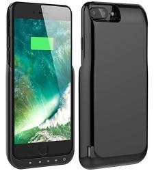 buy online 9b4e8 fcdfd Iphone 8 PLUS 7 Plus Battery Case Foxin 8000 Mah Extended Battery Charger  Case Rechargeable Power Bank Battery Charging Case For Iphone 8 PLUS 7 Plus  ...