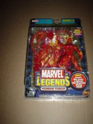 Marvel Legends Series 2: Human Torch 6-INCH Action Figure With Metallic Gold-bordered Large Card