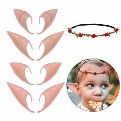 Hahaone 4 Pair Elf Ears Fairy Ears Cosplay Anime Party Costume And Elf Garland Pixie Ears Goblin Earshalloween Costume Accessory Party Favors