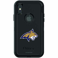Fan Brander Ncaa Black Phone Case With School Logo Compatible With Apple Iphone Xr And With Otterbox Defender Series Montana State Bobcats