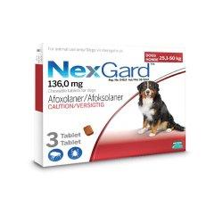 Nexgard Chewable Flea & Tick Control 25KG - 50KG - 25.1KG - 50KG 3 Pack