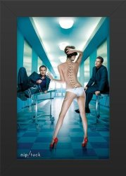 TV Nip tuck Show Art Print Show Memorabilia 11X17 Poster Framed Vibrant Color Features Dylan Walsh Julian Mcmahon Joely Richardson John Hensley Roma Maffia