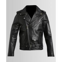 ISSA LEO Classic Black Biker Jacket - 4XL Black