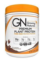 Growing Naturals Organic Premium Rice Protein Powder Chocolate 16.8 Ounce