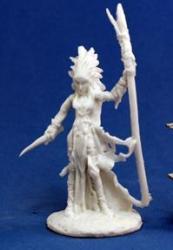 Bones: Liela Dark Elf Wizard Miniatures