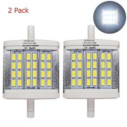 Rowrun R7S 78MM 8W LED Floodlight Night Lights Halogen Replacement 24 Pcs 5630SMD 6000K Cold White 2 Pack