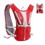 LANZON Hydration Pack Marathon Running Vest No Bladder - Red