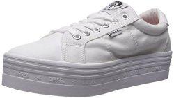 Diesel Men's Casual Sneaker Blanco blanco 39 M Eu