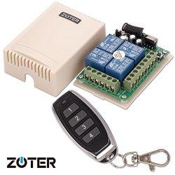 ZOTER SECURITY Zoter Universal Dc 12V 4 Channels 4CH Wireless 315MHZ Remote Control Switch Button Garage Gate Door Opener + Transmitter