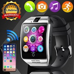 """Hyanwoo Smart Watch Phone With Sim Card Bluetooth Camera 1.55"""" Touch Activity Fitness Tracker Unlock Cellphone For Women Men Wrist Watch Health Pedometer Calorie Monitor"""