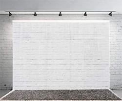 Yeele 10X8FT White Brick Wall Photography Backdrop Vinyl Cloth Photography Background Party Booth Banner Newborn Infant Adult Portrait Wallpaper Photo