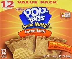 Pop-Tarts Pop Tarts Gone Nutty Peanut Butter Flavor Toaster Pastries 12 Pack 21.1 Oz