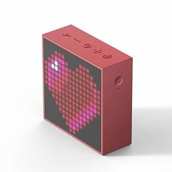 Divoom Timebox Evo Portable Bluetooth Pixel Art Speaker With 256 Programmable LED Panel 3.9 X 1.5 X 3.9 Inches Red