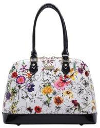 Serenade Botanics Patent Leather Dome Handbag