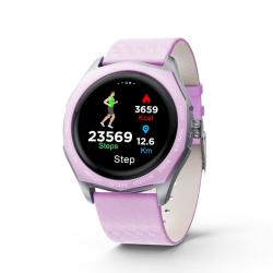 V18 1.22 Inch Ips Color Screen Smart Watch Support Call Reminder heart Rate Monitoring blood Pressure Monitoring sedentary Reminder Purple